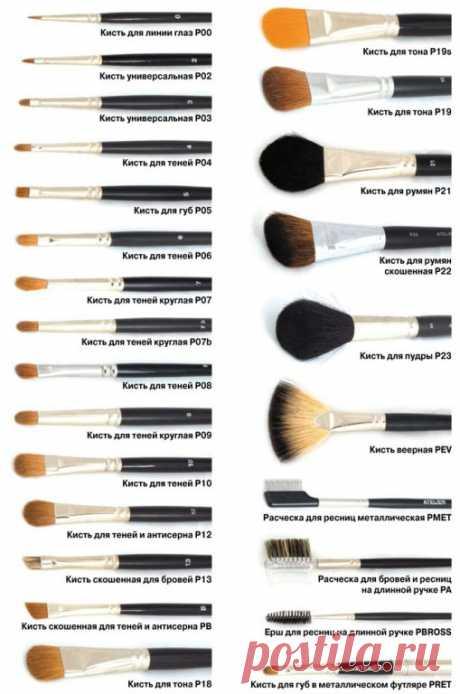 Какие кисти для макияжа для чего правильно использовать
