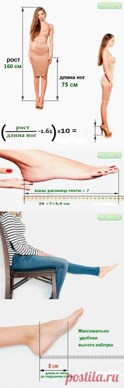 Как вычислить свою идеальную высоту каблуков...