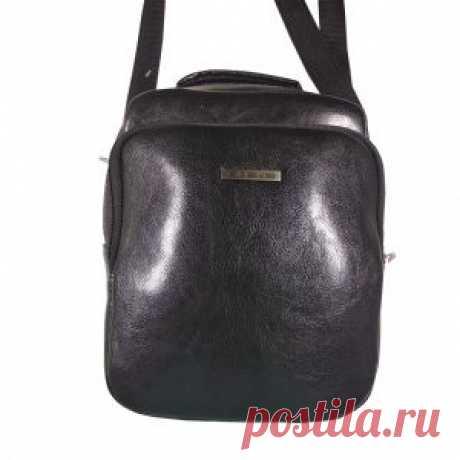 Сумка мужская Э2 из экокожи черная в интернет-магазине Ollbag.ru