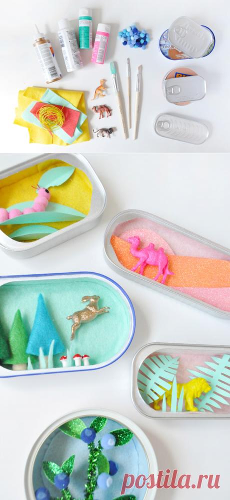 Los mini-dioramas. La idea para la obra con los niños y para los niños