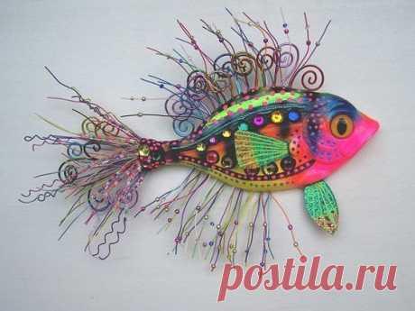Морские коньки и рыбки или яркие украшения на стену