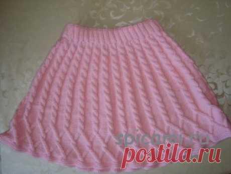Вязаная кофточка и юбочка для девочки | Вязание спицами, крючком, уроки вязания