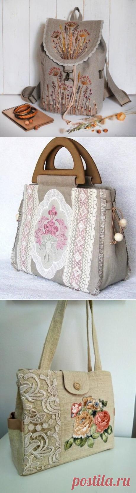 Ах, какие чудесные сумки на лето из рогожки и льна в стиле Бохо! Обязательно полюбуйтесь и сшейте себе такую красоту | Вертолет на пенсии | Яндекс Дзен