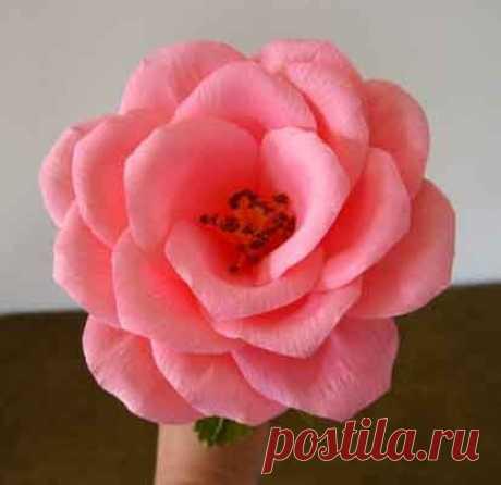 Розы из крепированной бумаги | Конфетный рай
