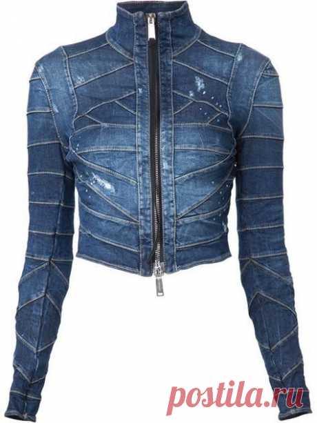 Куртка бондаж из джинсовой ленты