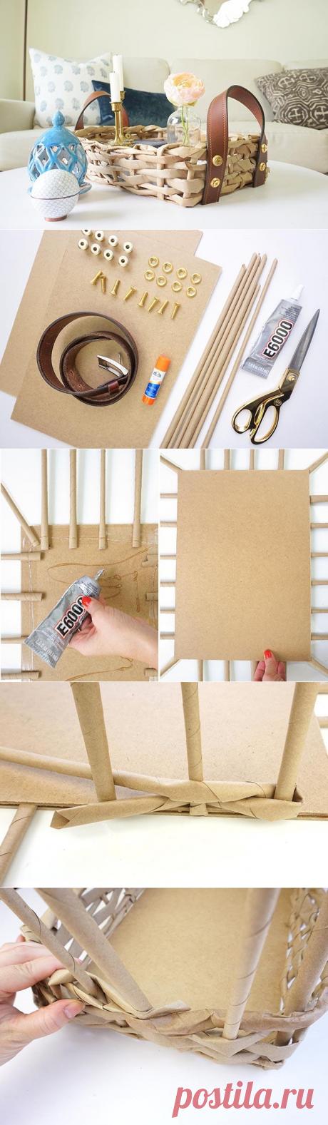 Как сплести корзинку из бумажных трубочек