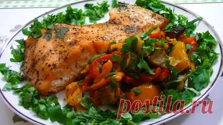 Рыба с овощами в духовке, рецепт / Простые рецепты