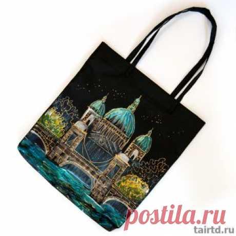 Роспись сумок красками по ткани и моделирующим гелем - мастер-класс