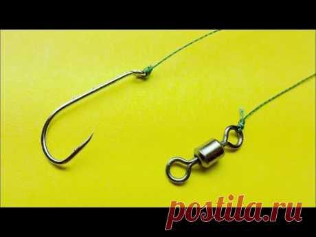 Топ 5 как привязать крючок к леске | рыболовные узлы uni knot | palomar knot | clinch knot | рыбалка - YouTube