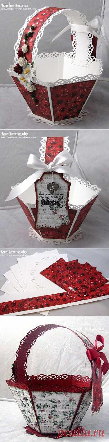 (+1) тема - Подарочная упаковка - корзинка | СДЕЛАЙ САМ!