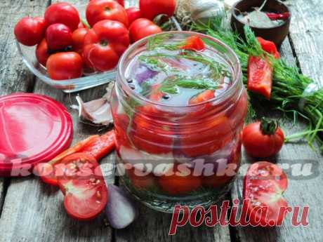Cherry tomatoes with sweet pepper for the winter