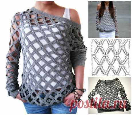 Ivelise Hand Made: Блуза в вязания крючком