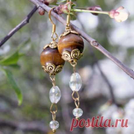 Серьги Amorella - авторские украшения с камнями Купить серьги с натуральными камнями