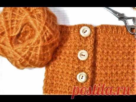 КАК ЛЕГКО СВЯЗАТЬ ЗАСТЕЖКУ ,,ПОЛО,, свитер спицами. модное вязание. вязание для детей. kniting