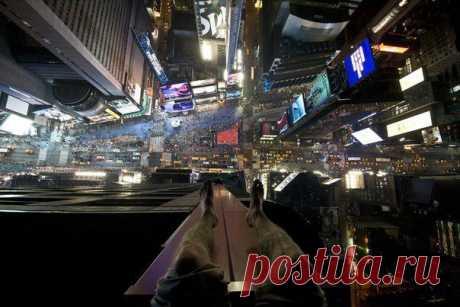 Times Square сверху, Нью-Йорк. - Prikoly.us
