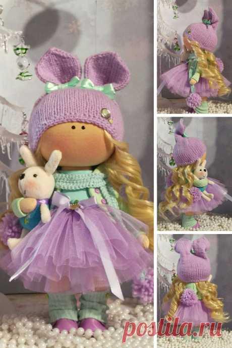 Nursery Decor Doll Bambole Fabric Doll Textile Rag Doll Puppen