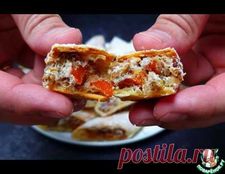 Печенье с курагой и орехами – кулинарный рецепт