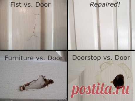 Как заделать дыру в межкомнатной двери — ОчУмелые ручки