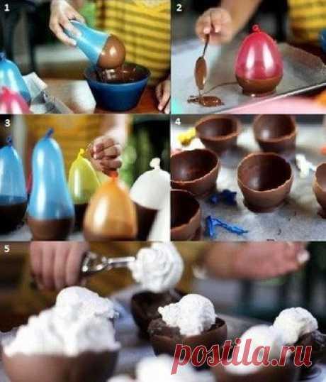 Шоколадные чашки - Десерты