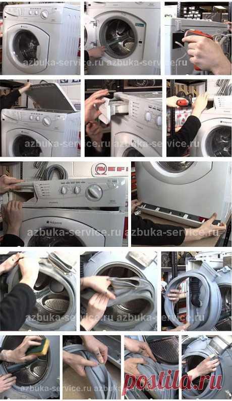 Как заменить манжету люка стиральной машины Ariston (Аристон) - СЦ Азбука Сервис