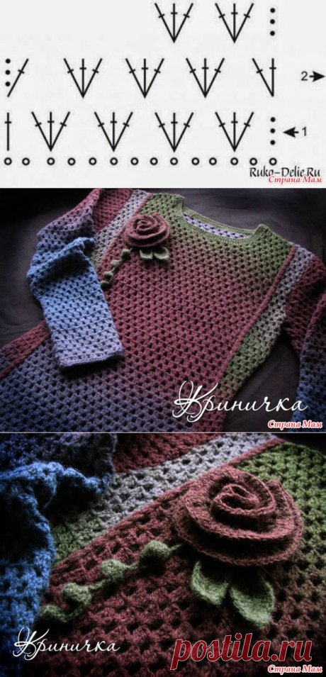 """""""Космос"""" a warm dress from Krinichki - we Knit together online - the Country of Mothers"""