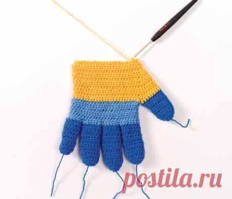 Как вязать перчатки крючком - схема вязания крючком с описанием на Verena.ru