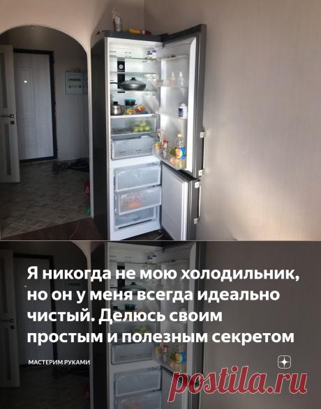 Я никогда не мою холодильник, но он у меня всегда идеально чистый. Делюсь своим простым и полезным секретом | Мастерим руками | Яндекс Дзен