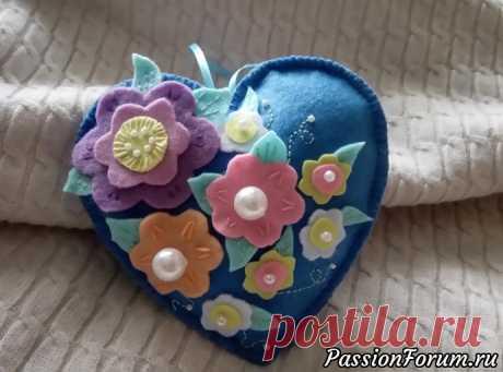 Цветочное сердце - запись пользователя cjyz3 (София) в сообществе Мир игрушки в категории Разнообразные игрушки ручной работы