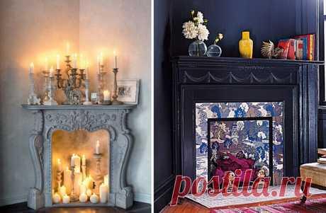 Las chimeneas decorativas por las manos — DekoDiz.ru