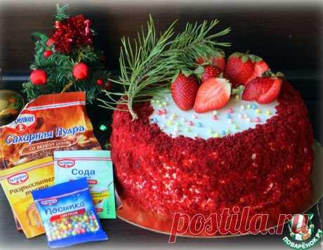 Рождественский торт с ромовым крем-чизом – кулинарный рецепт
