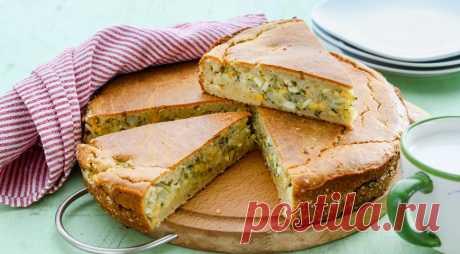 Заливной быстрый пирог с молодой белокочанной капустой, укропом и яйцом, пошаговый рецепт с фото