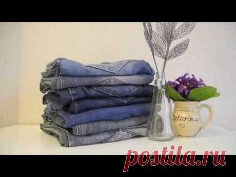 DIY лоскутное одеяло из старых джинсов