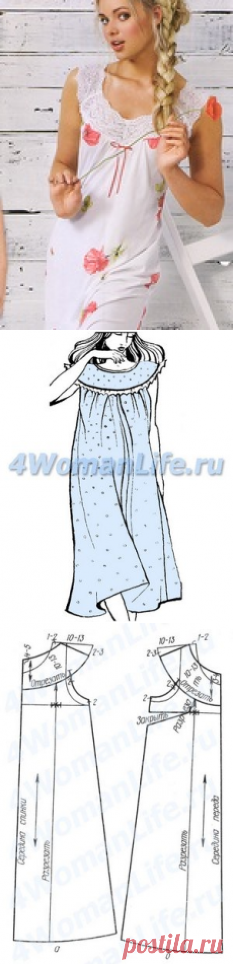 Выкройки ночных сорочек или пижама фото 136