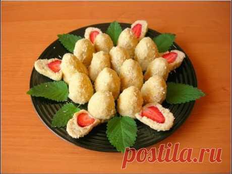 Печенье БЕЗ ВЫПЕЧКИ с Клубникой, Оригинальный Десерт за 15 Минут