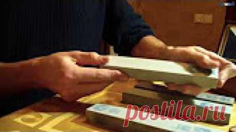 Инструмент для заточки ножей и др. Приспособления (устройства) для заточки ножей, водные (точильные) камни, полировальные пасты....... Тесты ножей, заточенных с помощью вышеперечисленного инст...