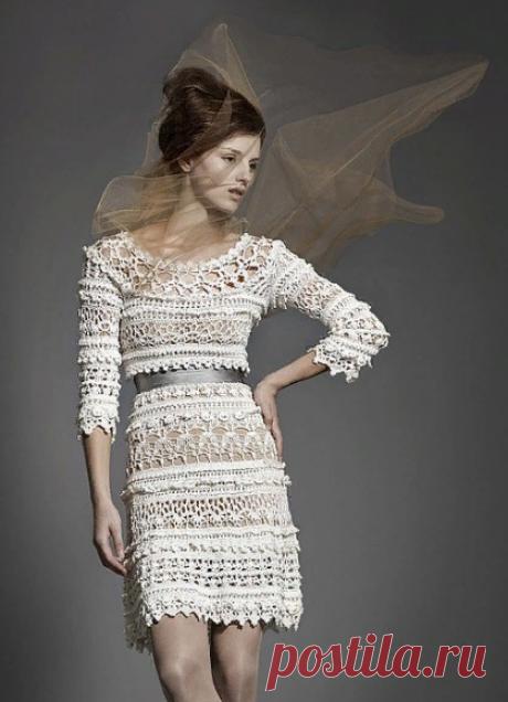 Летнее платье крючком от Ванессы Монторо