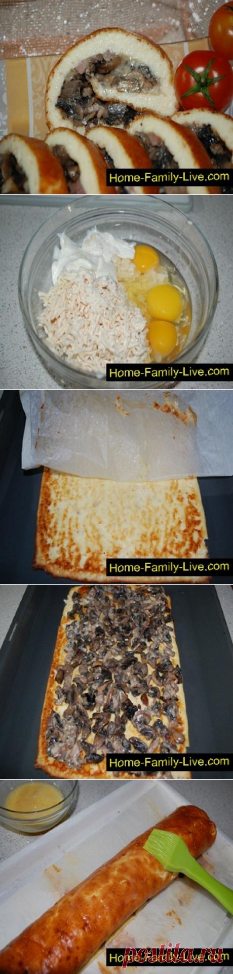 Рулет закусочный - пошаговый рецепт с фото - закускаКулинарные рецепты