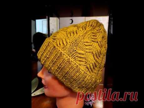 Редкий, красивый узор для женской шапки.