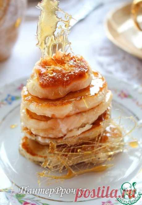 Дрожжевые оладьи в карамели - кулинарный рецепт