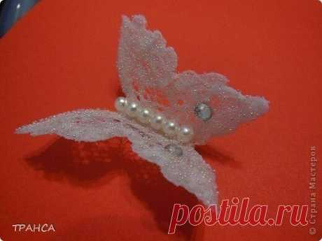 Бабочка из кружева для декора