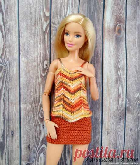 Топ Зиг Заг для Барби(бесплатное описание) / Вязание для кукол / Бэйбики. Куклы фото. Одежда для кукол
