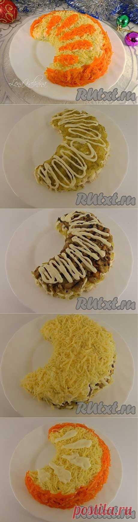 """Рецепт салата """"Апельсиновая долька"""" (рецепт с фото)   RUtxt.ru"""