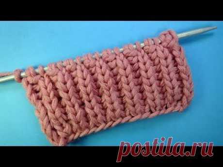 Начинаем вязать – Видео уроки вязания » Английская резинка – научится вязать даже начинающий! – Узор спицами №22