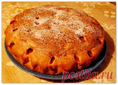 Быстрый пирог с вишней от мамы...