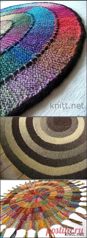 Коврик связанный по кругу | knitt.net | Все о вязании