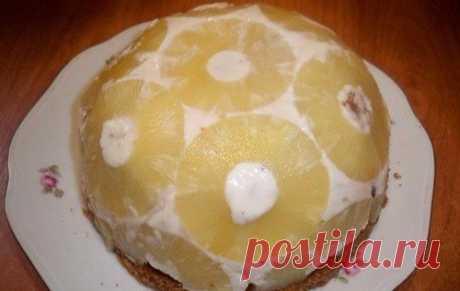 Торт без выпечки Мячик / Изысканные кулинарные рецепты