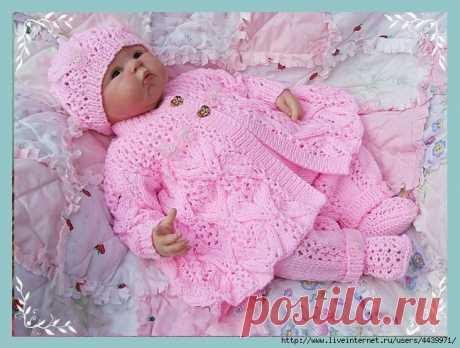 """Жакет """"Цветочная фантазия"""" для новорожденной девочки"""