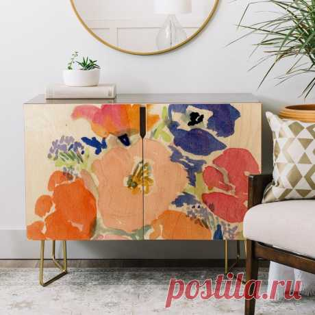 Laura Trevey Floral Frenzy Credenza | DENY Designs Home Accessories
