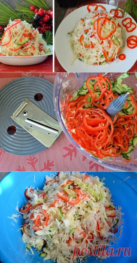 Зимний свежий салат