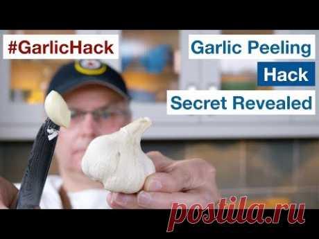 How To Do The #GarlicHack Garlic Peeling Trick Secret Revealed || Glen & Friends Cooking